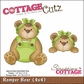 "CottageCutz Die 4""x4"" - Romper Bear"