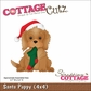 "CottageCutz Die 4""x4"" - Santa Puppy"