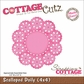 "CottageCutz Die 4""x4"" - Scalloped Doily Made Easy"
