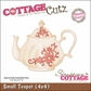 "CottageCutz Die 4""x4""- Small Teapot Made Easy"