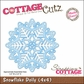 "CottageCutz Die 4""x4"" - Snowflake Doily Made Easy"