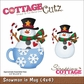 "CottageCutz Die 4""x4"" - Snowman In A Mug"