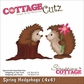 "CottageCutz Die 4""x4"" - Spring Hedgehogs"