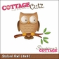 "CottageCutz Die 4""x4"" - Stylized Owl"