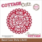 "CottageCutz Die 4""x4"" - Sweet Love Doily"