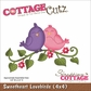 "CottageCutz Die 4""x4"" - Sweetheart Lovebirds"
