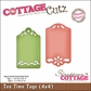 "CottageCutz Die 4""x4""- Tea Time Tags Made Easy"