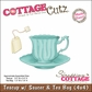 "CottageCutz Die 4""x4""- Teacup With Saucer & Tea Bag Made Easy"