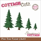 "CottageCutz Die 4""x4"" - Tree Forest Made Easy"