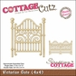 "CottageCutz Die 4""x4"" - Victorian Gate Made Easy"