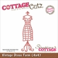"CottageCutz Die 4""x4"" - Vintage Dress Form"