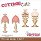 "CottageCutz Die 4""x4"" - Vintage Lamps"