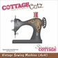 "CottageCutz Die 4""x4"" - Vintage Sewing Machine"