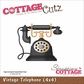 "CottageCutz Die 4""x4"" - Vintage Telephone"