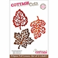 "CottageCutz Die 4""x6"" - 3 Filigree Fall Leaves Made Easy"