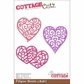 "CottageCutz Die 4""x6"" - 3 Filigree Hearts"