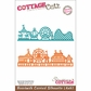 "CottageCutz Die 4""x6"" - Boardwalk Carnival Silhouette Made Easy"