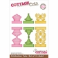 "CottageCutz Die 4""x6"" - Celebration Tabs Made Easy 3/Set"