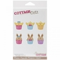 "CottageCutz Die 4""x6"" - Easter Cupcake Peepers"
