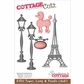"CottageCutz Die 4""x6"" - Eiffel Tower, Lamp, Poodle"