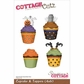"CottageCutz Die 4""x6"" - Halloween Cupcakes & Toppers"