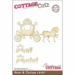 "CottageCutz Die 4""x6"" - Horse & Carriage Made Easy - Click to enlarge"