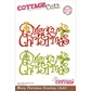 "CottageCutz Die 4""x6"" - Merry Christmas Greeting"