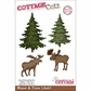 "CottageCutz Die 4""x6"" - Moose & Trees Made Easy"
