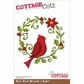 "CottageCutz Die 4""x6"" - Red Bird Wreath"