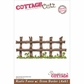 "CottageCutz Die 4""x6"" - Rustic Fence With Grass Border"