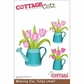 "CottageCutz Die 4""x6"" - Watering Can With Tulips"