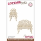 """CottageCutz Die 4""""x6"""" - Wrought Iron Chairs Made Easy"""