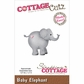 CottageCutz Die - Baby Elephant