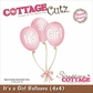 CottageCutz Die - It's A Girl Balloons