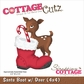 CottageCutz Die - Santa Boot w/Deer
