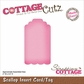 CottageCutz Die - Scallop Insert Card/Tag Made Easy