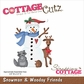 CottageCutz Die - Snowman & Woodsy Friends