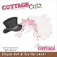 "CottageCutz Die - Veil & Top Hat 4""x4"""