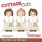 CottageCutz Die w/Cottage Impressions Stamps - Trio Choir