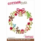 CottageCutz Die - Whimsical Holiday Wreath