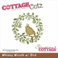 CottageCutz Die - Whimsy Wreath w/Bird