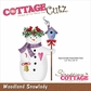 CottageCutz Die - Woodland Snowlady