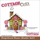 "CottageCutz Dies 4""x4"" 2 Piece Set - Gingerbread House"