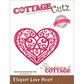 "CottageCutz Elites Die 3.2""x2.7"" - Elegant Love Heart"