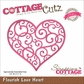 "CottageCutz Elites Die 3.5""x3.1"" - Flourish Love Heart"