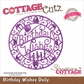CottageCutz Elites Die - Birthday Wishes Doily