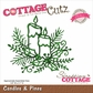 CottageCutz Elites Die - Candles & Pines