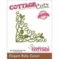 CottageCutz Elites Die - Elegant Holly Corner