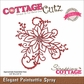 CottageCutz Elites Die - Elegant Poinsettia Spray