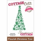 CottageCutz Elites Die - Flourish Christmas Tree